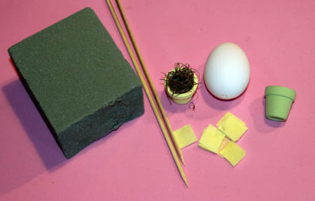 egg topiary easter craft how to make supplies
