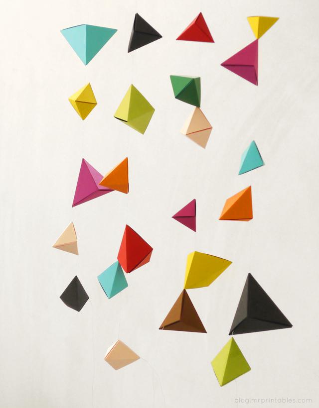 DIY-origami-mobile