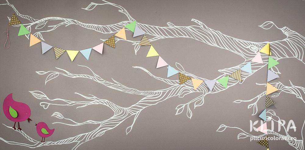 Ghirlanda party triunghiuri Candy