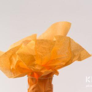 Hartie de matase - portocaliu - 24 buc