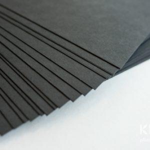 Carton colorat reciclat A4 - negru