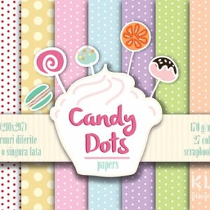 Carton decorat A4 - Candy Dots - 27 coli