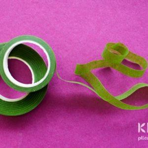 Banda adeziva florala verde