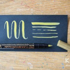 Brush-pen metalic ZIG Fudebiyori - Auriu