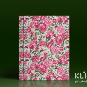 Carton decorat A4 - Pink roses - 5 buc