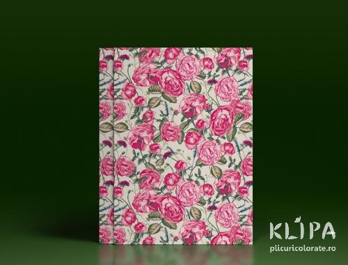 Carton decorat A4 - Pink roses - 5 buc