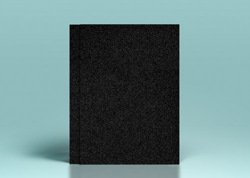 Carton negru cu sclipici - A4