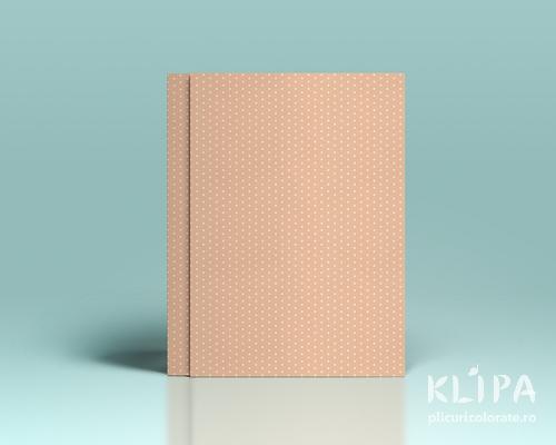 Carton decorat A4 - Peach dots - 5 buc