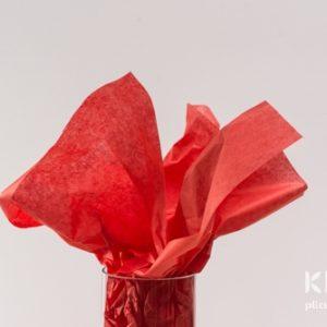 Hartie de matase - rosu mac - 24 buc