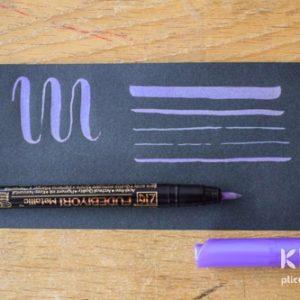 Brush-pen metalic ZIG Fudebiyori - Mov