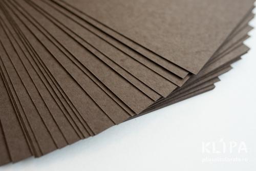 Carton color reciclat A4 - maro