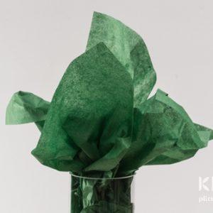 Hartie de matase - verde padure inchis - 24 buc