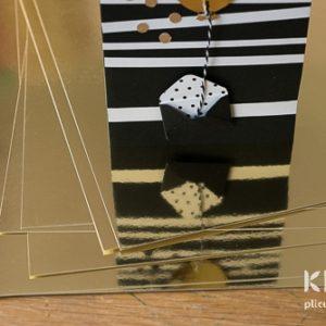 Carton auriu tip oglinda - A4