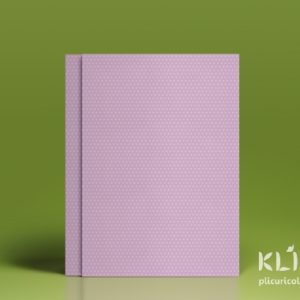 Carton decorat A4 - Pastel Lilac dots - 5 buc