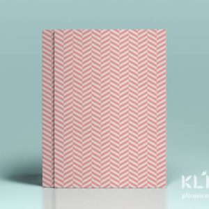 Carton decorat A4 - Pastel Pink Herringbone - 5 buc
