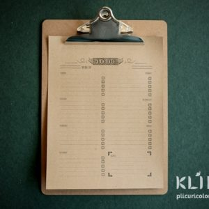 Clipboard vintage look A4
