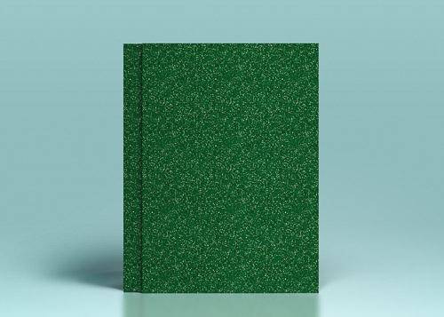 Carton verde padure cu sclipici - A4