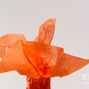 Hartie de matase - portocaliu intens - 24 buc