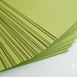 Carton colorat reciclat A4 - verde crud