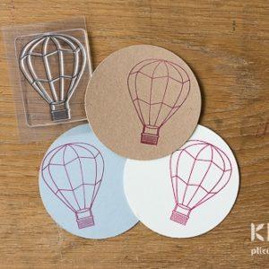Stampila transparenta balon aer cald