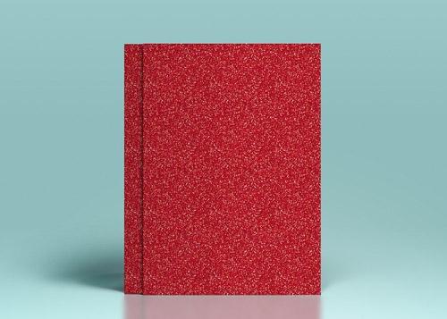 Carton rosu cu sclipici - A4