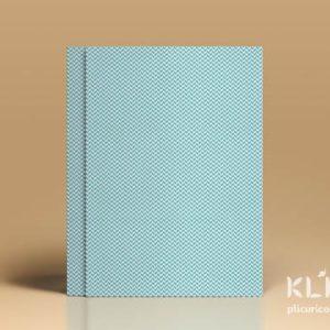 Carton decorat A4 - Pastel Blue Herringbone - 5 buc