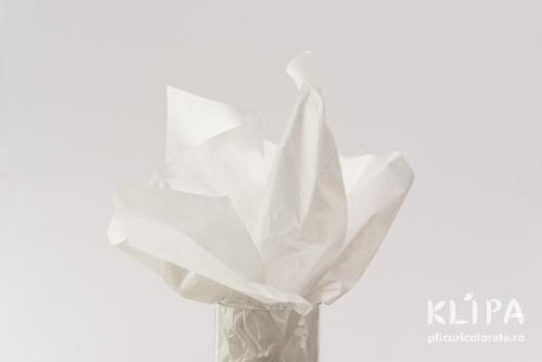 Hartie de matase - alb - 24 buc
