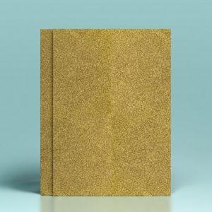 Carton auriu cu sclipici - A4