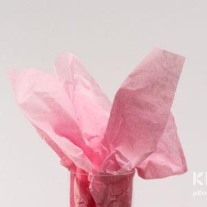 Hartie de matase - roz pastel - 24 buc