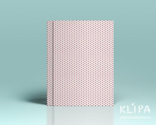 Carton decorat A4 - White Red dots - 5 buc